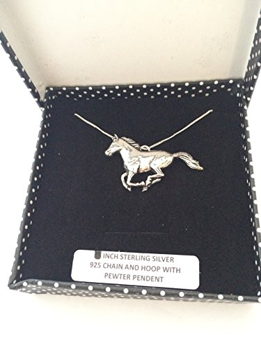 A19 Running Horse PENDENT REAL 925 sterling silver Necklace Handmade 18 inch chain with prideindetails gift box