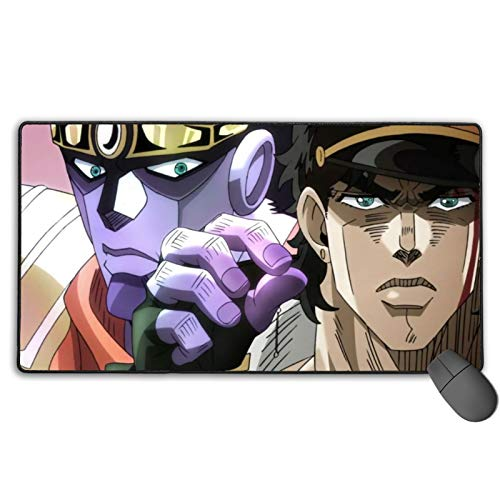 Comfortable Mouse Pad,JoJo's Bizarre Adventure  Washable Office Mat,Durable Thickenprotective Case for Laptop Internet Cafe Games Easter