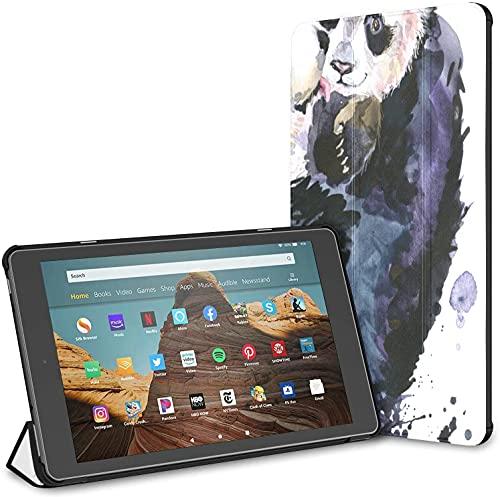 Custodia per tablet Chinese Black White Panda Bamboo Fire Hd 10 (9a settima generazione, versione 2019 2017) Simpatiche custodie Kindle per ragazze Hd 10 Kindle Fire Case Auto Wake Sleep per tablet d