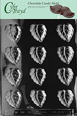 Cybrtrayd Life of the Party AO026 Fall Leaves All Occasions Chocolate Candy Mold in Sealed Protective Poly Bag Imprinted with Copyrighted Cybrtrayd Molding Instructions