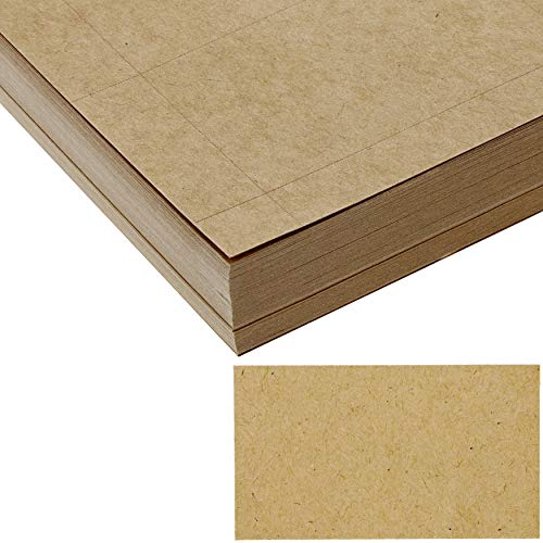 Blank Business Cards Printable Paper Customizable (100 Sheets, Brown, 1000 Pieces)