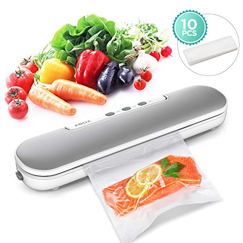 Machine Sous Vide, ABOX 4 en 1 Appareil de Mise Sous Vide Alimentaire Automatique avec 10 Sacs Sans BPA pour Aliments, Viandes,...