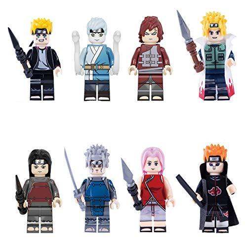 Boruto Naruto Next Generations 8 Stück Anime Figuren Spielfigur Figur Uzumaki Boruto Mitsuki Gaara Sakura Pain Collectible Figuren Bausteinen Spielzeugpuppe Geschenk für Kinder 8PCS-4.5CM