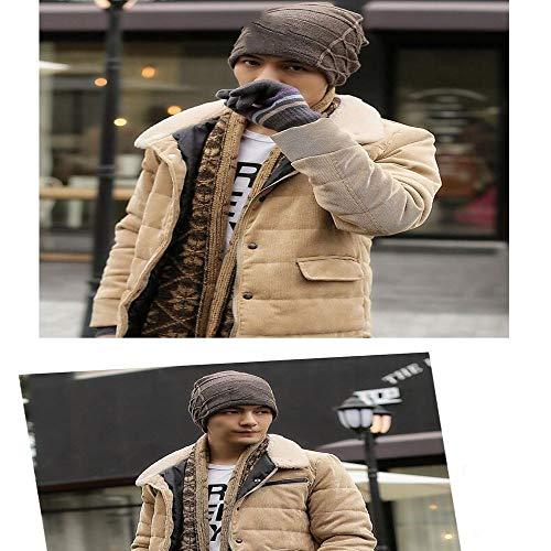 HAXGL dames muts mannen beanie caps jongens wintermuts voor mannen gebreide mutsen hoed strepen kleur doppen man's lichtbruin