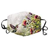 riou Baumwolle Mundschutz mit Filter Waschbar Muster Atmungsaktive Staubdicht Bandana Halstuch für Damen und Herre