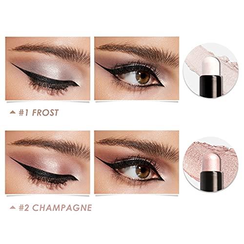 FOCALLURE (2 Pcs) 2 in 1 Eyeshadow and Eyeliner Pen, Waterproof Eye Shadow Pencil, Hypoallergenic Eyeshadow, Highlighter Eye Liner, Multi-Dimensional eyes Look, FA38-11116-12