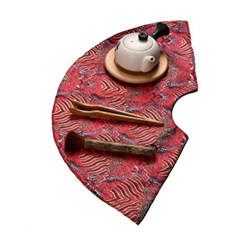 Wukong Paradise Nappe à thé Tapis à thé Broderie sous-Verres à thé Chemin de Table Accessoires pour thé-A03