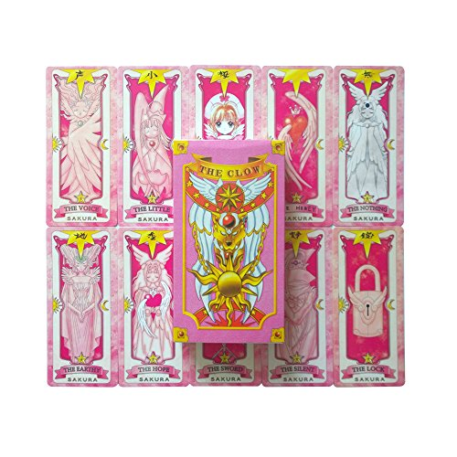Cosplayfield® Popular Anime Cardcaptor Sakura Magical Pink Sakura Card Set Tarot Cards Pokers (56 cartas)