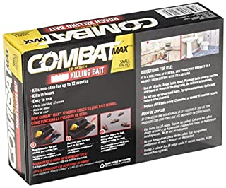 عروض Combat Max 12 Month Roach Killing Bait, Small Roach Bait Station, Child-Resistant, 18 Count
