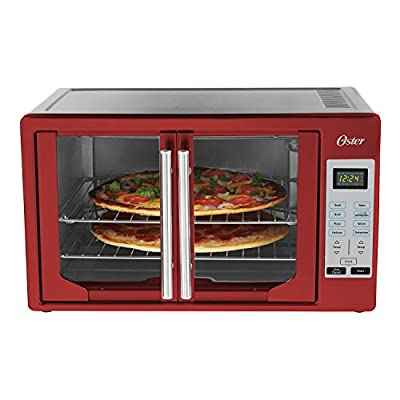 Oster French Door Toaster Oven, Extra Large, Red
