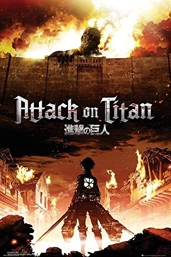 Close Up Poster Attack on Titan Manga/Anime (61cm x 91,5cm) + Un Poster Surprise en Cadeau!