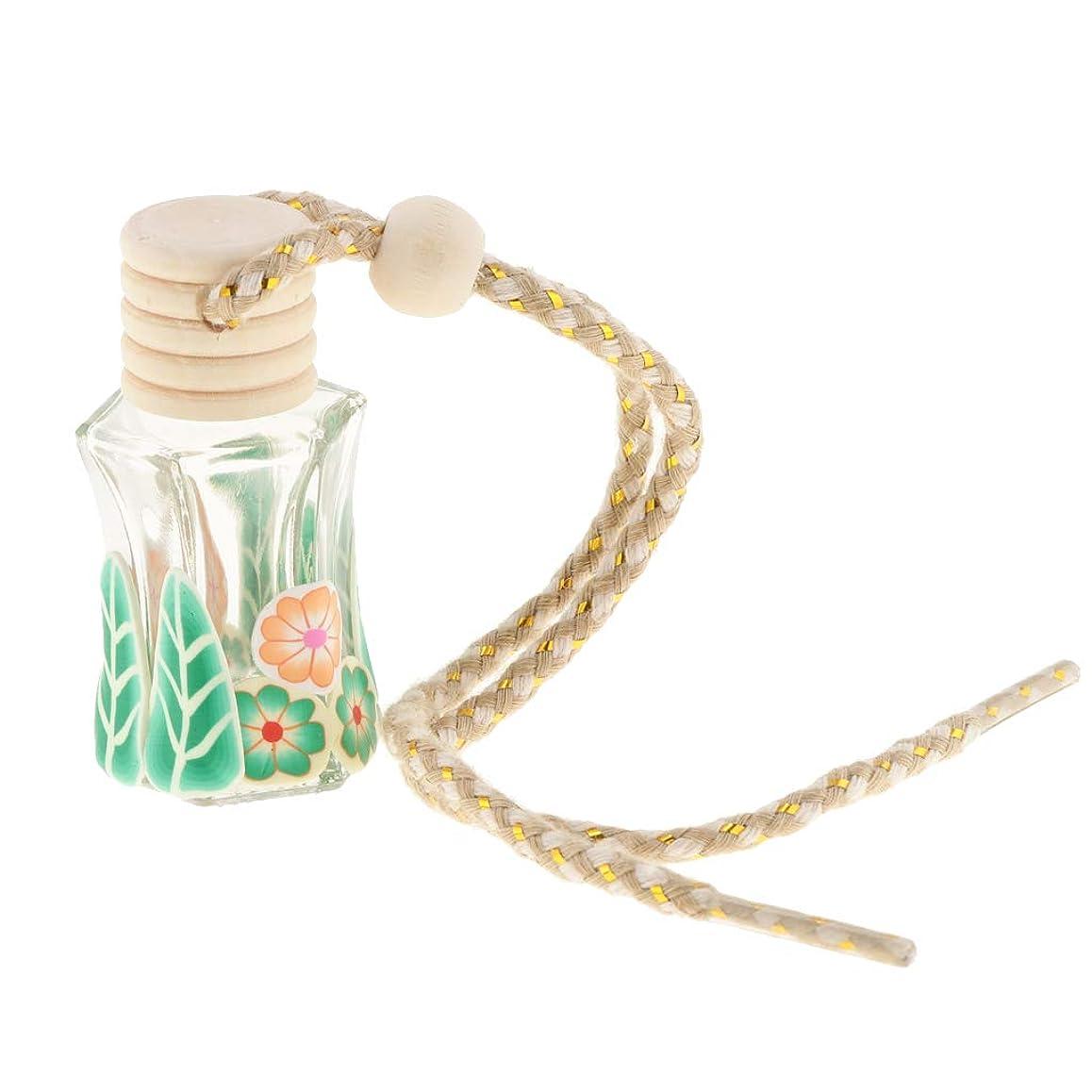 計算する有能なご覧くださいperfk ポータブル サイズ 空 ガラス 詰め替え可能 魅力的 香水 瓶 ペンダント 4色選べる     - 緑