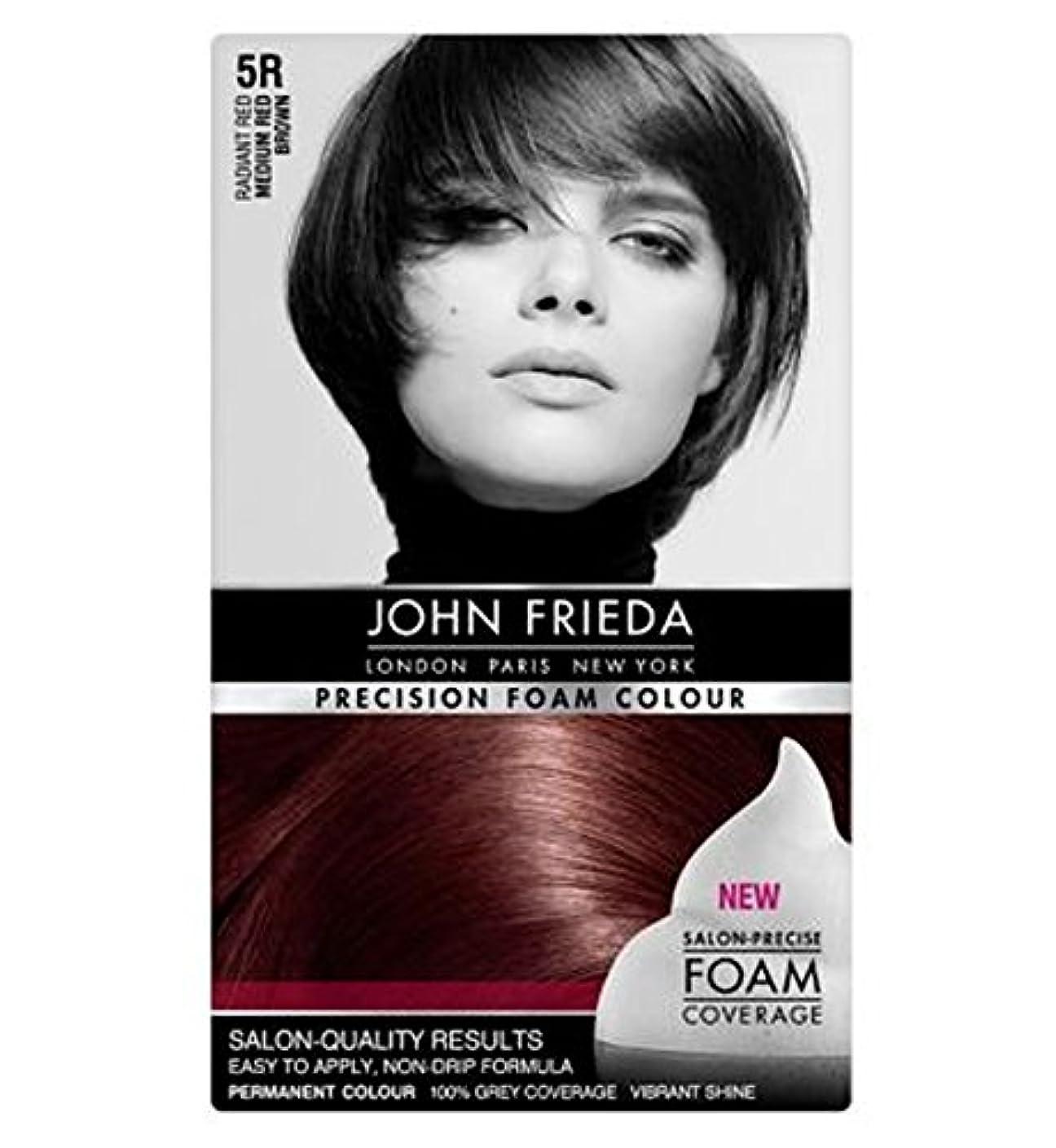 強い茎傷つきやすいミディアム赤茶色5Rジョン?フリーダ精密泡カラー (John Frieda) (x2) - John Frieda Precision Foam Colour 5R Medium Red Brown (Pack of 2) [並行輸入品]