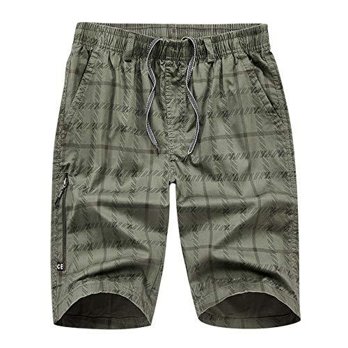 Pantalones Cortos de Algodón Leisure Pantalones Cortos Deportivos Impresos a Rayas de Culturismo Casual de Verano para Hombre Shorts Deportivos para Hombre Hombres Gym Sports