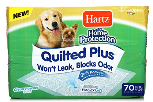 Hartz Home Protection Quilted Plus Clean Powder Scented Dog Pads - 70 Count