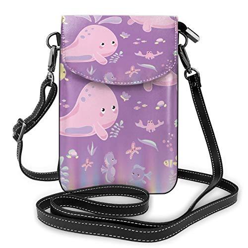 Generic Damen Handtasche mit verstellbarem Riemen, Pink