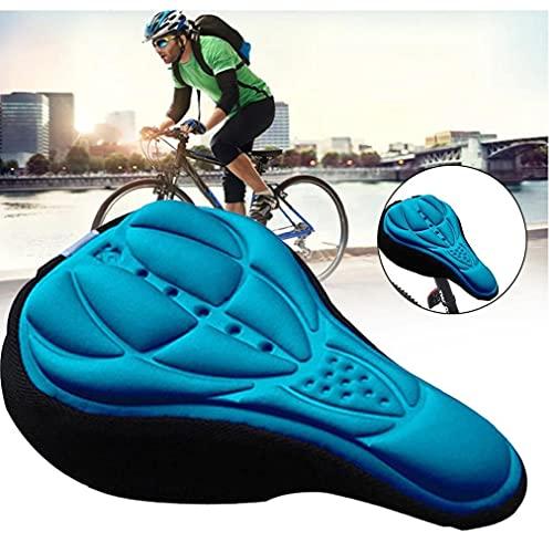 TOPofly Asiento Bicicleta Silla de Espuma Suave Montar de la Bici MTB de una Silla cómoda con Amortiguador de la Silla de Montar de Ciclo de Accesorios Azul