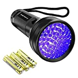 Black Light UV Flashlight,Vansky 2020 Upgraded 51 LED Blacklight Pet Urine Detector For Dog/Cat Urine,Dry Stains,Bed Bug, Matching with Pet Odor Eliminator(Batteries are included)