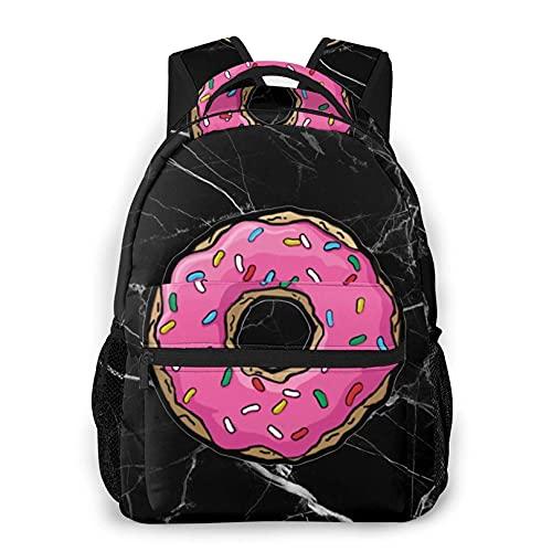 Jupsero donut Lightweight Black Backpacks Gym Backpacks Hiking Daypacks for Teens Boys Girls
