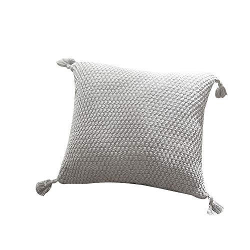 CUTTE Fundas de colchón de Punto Liso de Punto Liso de Eve Fundas de cojín de Oxford Cuadrado,Dark-Grey,45x45cm
