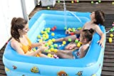 Family Inflatable Swimming Pool, 120'x68'x22' Large Inflatable Lounge Pool for Infant Baby, Kiddie, Kids, Toddlers, Adults, Blow up Pool for Outdoor, Garden, Backyard, Summer Water Party (120 inch)