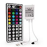 [Adatto per strisce LED RGB]: Adatto per 5050,3528,2835 striscia di luce a led RGB a 4 pin. [Telecomando a 44 tasti]: Dispone di 20 colori statici, regola la luminosità, modalità di controllo: Statico / Flash / Strobe / Fade-change / RGB Smooth-chang...
