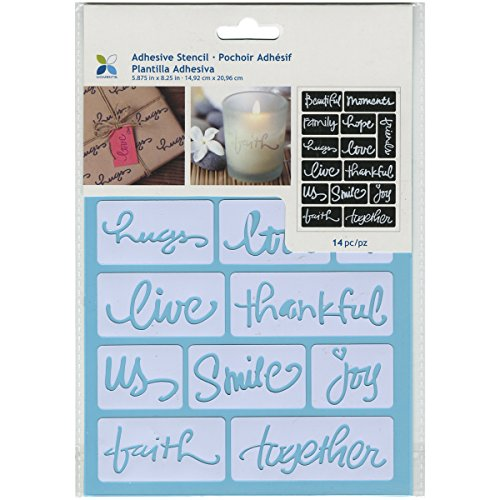 """Momenta ST-252-25235 Adhesive Stencil, 6"""" by 8"""", Beautiful Words"""