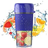 Portable Blender, Personal Blender for Shakes and Smoothies, USB Rechargeable Mini Blender, Handheld Fruit Juicer Mixer With BPA Free, Detachable Juicer Cup for Sport, Travel, Gym, Office and Outdoors