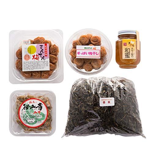 和歌山県大塔 おおとう 山里のめぐみセット〔ハチミツ・味うめぼし・すっぱい梅干し・番茶・金山寺みそ〕