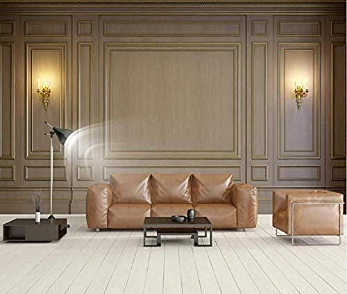 ZZXIAO European Style Retro Embossed Lamp Modern Murals Wall Painting Wallpaper Decoration Poster Picture D Non-Woven Silk 3D Wallpaper Paste Living Room The Wall for Bedroom Mural border-400cm×280cm