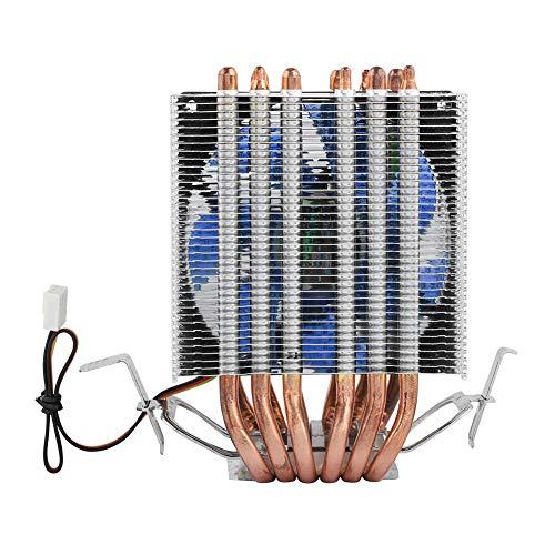 3PIN Ventole di Raffreddamento CPU, 12VDC Dissipatori di Calore CPU Mini Radiatore CPU per Intel Core 2, per Intel LGA 1155/1156/1366, per AMD / AM2(Blu)