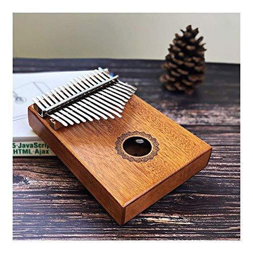 Dirgee 17 Keys Bull Thumb Piano Mahagoni Körpermusikinstrument und Preis (Farbe: Lattin Brief) (Color : Crown of Water)