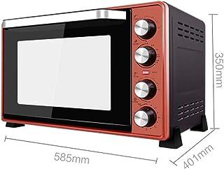 ZJJL Mini horno eléctrico de 45 litros con control de temperatura de precisión 60-250 ° C y 0-120 temporización mínima 2000 W Aire caliente multifunción de doble capa con horno de iluminación Rojo