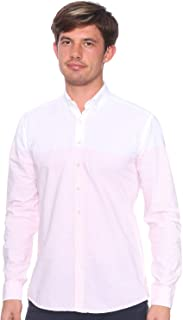 Defacto Cotton Two-Tone Long Sleeves Regular Fit Button Down Collar Shirt for Men