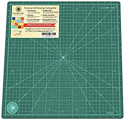 commercial Self-healing rotating cutting mat caliber Ideal for art, quilts and art projects, 18×18 (17 inch mesh) rotating cutting mat