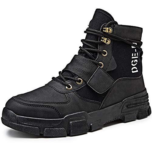 Botas Hombre Martin Militar Zapatos De High Rise Senderismo para Encaje Confort y transpirabilidad