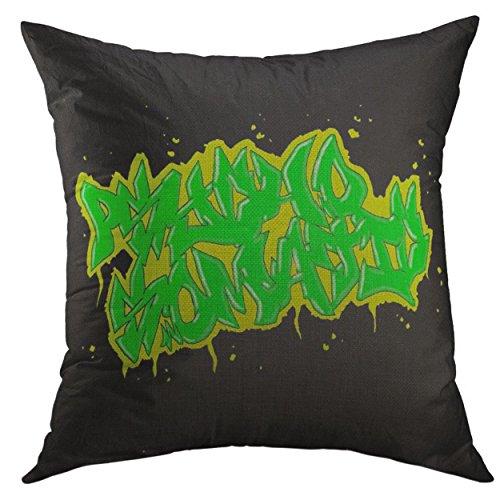 Funda de almohada decorativa para sofá, cama, decoración del hogar, cojín psicosomático, mojo urbano hw: 45,7 x 45,7 cm