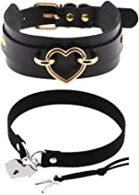 MUATOO Leather Choker Collar for Women,Sexy Soft PU Leather Choker Necklace