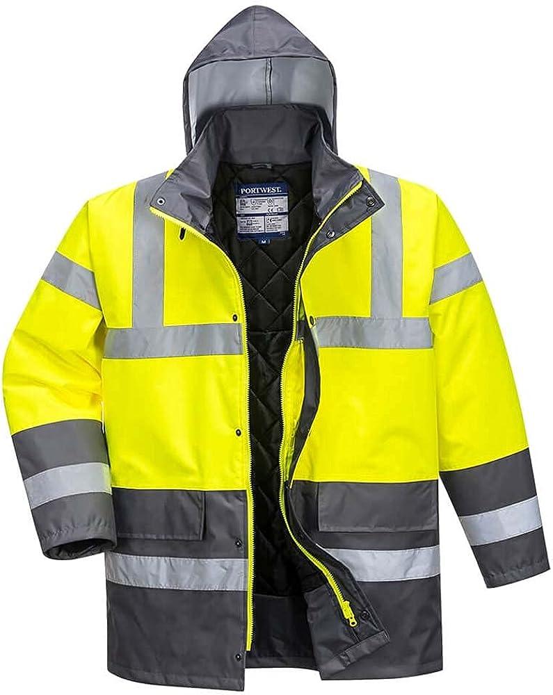 Portwest Workwear Mens Contrast Traffic Jacket