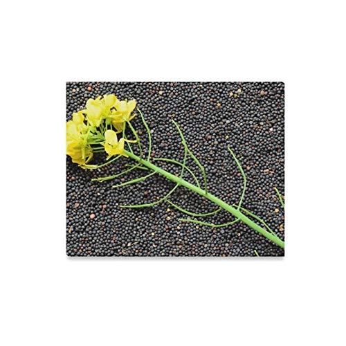 ZANSENG Leinwanddrucke Wandkunst Raps Pflanze Gelbe Blumen Samen Senf Gerahmte Leinwand Wand Arthome Kunstwerk Dekoration Für Wohnzimmer, Schlafzimmer Dekor 20