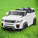 Nyyii Childrens 2 Seater Electric Jeep, Kids Electric Cars with Remote Control/LED Lights, 12V Kids Ride on Car, Available in Four Colours – White