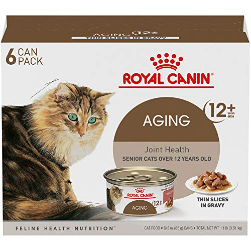 Royal Canin Feline Health Nutrition Aging 12+ Loaf In Sauce Canned Cat Food, 5.8 oz Can (Pack of 6)