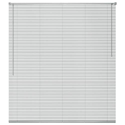 Bulufree Persianas venecianas, Persianas de Aluminio, protección de la luz de privacidad de la Oficina en casa, Sistema de Control de Varilla de inclinación, Plateado, 60x220 cm