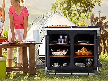 AREBOS Cuisine de Camping   L ou XL   Noir   Convient pour : Jardin   Camping   fête   Buffet (L)