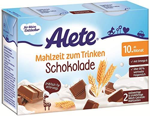Alete Mahlzeit zum Trinken Schokolade, Praktisch für Zuhause & unterwegs, ab dem 10. Monat, 400 ml
