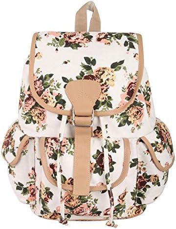 Crafts My Dream Women's Backpack Handbags (Cmd176, Beige Rose Print)