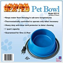 Pet Bowls Products Innovators Heated 1 Quart Blue Cats & Dogs Dishes food bowl