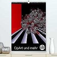 OpArt und mehr (Premium, hochwertiger DIN A2 Wandkalender 2022, Kunstdruck in Hochglanz): Motive in ROT, WEISS und SCHWARZ (Planer, 14 Seiten )