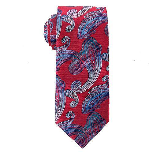 YAOSHI-Bow tie/tie Cravatte e Papillon per Cravatte da Uomo in Poliestere Tessuto Fiori Fantasia a Gradiente per Matrimoni Missioni Danze Sposo Regali per sposi 7,5 cm Largo (Colore : Rosso)