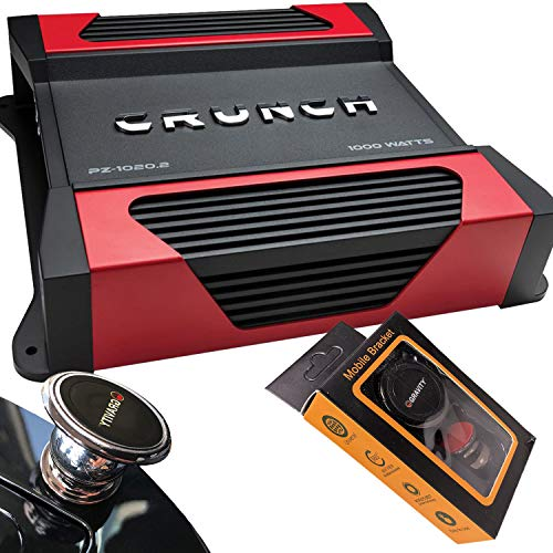 Best Prices! Crunch PZ-1020.2 1100W Max Powerzone Series 2-ohm Stable 2-Channel Class-A/B Amplifier ...